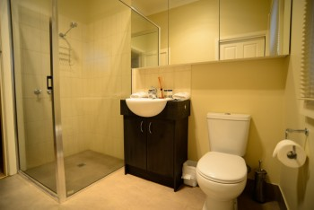 Bathroom with Shower and Amenities